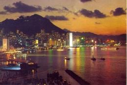 Hong Kong - By Night - Formato Grande Viaggiata – E 7 - Cartoline