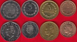 El Salvador Set Of 4 Coins: 1 - 10 Centavos 1972-1995 UNC - El Salvador