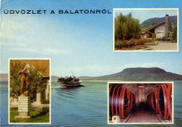 Udvozlet A Balatonrol - Formato Grande Viaggiata – E 7 - Cartoline