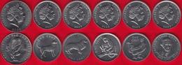 Cook Islands Set Of 6 Coins: 1 - 5 Cents 2000-2003 UNC - Cookeilanden