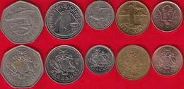 Barbados Set Of 5 Coins: 1 Cent - 1 Dollar 1973-2017 - Barbades