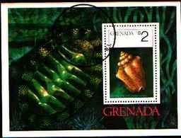 72278) GRENADA- 1975-CONCHIGLIE-BF.43 USATO - Grenada (1974-...)