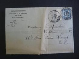 COMPAGNIE PARISIENNE  D'Eclairage Et Chaufface  Gaz Timbre Type Sage 15 Cachet Daguin à Date 1900, PARIS Gare Du Nord - Postmark Collection (Covers)