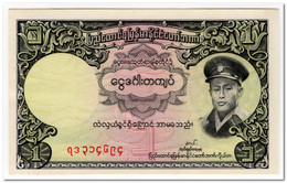 BURMA,1 KYAT,1958,P.46,UNC - Myanmar