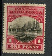 Cook Islands 1920 1p Waterfront Issue #62  MH - Cookeilanden