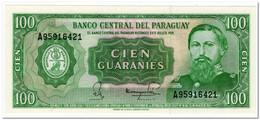 PARAGUAY,100 GUARANIES,L.1952(1982),P.205,UNC - Paraguay