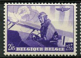 Belgium 1938 2.45f + 2.55f Fighter Pilot Issue #B213  MH - Belgium
