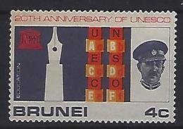 Brunei 1966 UNESCO  4c (*) MH - Brunei (...-1984)