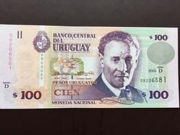 URUGUAY P85 100 PESOS 2003 UNC - Uruguay