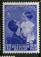 Belgium 1937  1.75f + 25c   Queen Astrid  Issue #B195  MH - Belgium