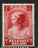 Belgium 1937   1f + 25c  Princess Josephine-Charlotte  Issue #B205  MH - Belgium