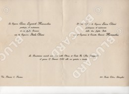 29707 CHINA 1942 SHANGHAI RUE BOURGEAT WEDDING CARD CAPTAIN OF ITALIAN SHIP - Documenti Storici