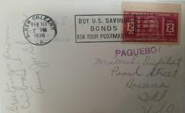 O) 1936 HONDURAS, PRESIDENT CARIAS -SCT 329 2c - PAQUEBOT -BUY U.S. SAVINGS BONDS ASK YOUR POSTMASTER TO USA - Honduras