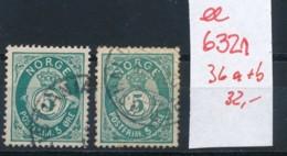 Norge Nr. 36a+b    O-Stempel....  (ee6321 ) Siehe Scan - Gebraucht