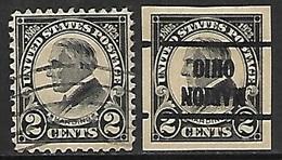 US  1923  Sc#610-1 Used  2016 Scott Value $4.25 - Etats-Unis