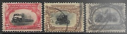 US  1901  Sc#295-6, 298  Used  2016 Scott Value $75 - United States