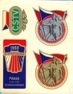 Czechoslovakia. Prague. II Spartakiada 1960. 4 Labels. - Sports