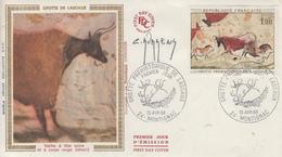 Enveloppe   FDC  1er   Jour    Grotte  De  LASCAUX    MONTIGNAC    1968 - 1960-1969