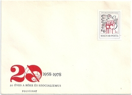 B2078 Hungary Culture Magazine Socialism FDC Cover - Lettres & Documents