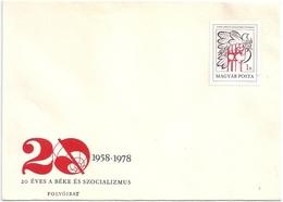 B2078 Hungary Culture Magazine Socialism FDC Cover - Hongrie
