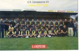 11 - Carcassonne U S Carcassonne XV - Rugby - Finale Championnat De France 2008 - Carcassonne