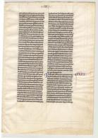 8399 - INCUNABLE - Documents Historiques