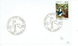 Cachet Temporaire Du Cercle Saint Gabriel De Namur Du 13/11/1971 Sur Timbre COB 1608 - Exposiciones Filatélicas
