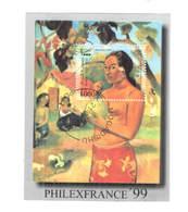 Somali Rep.Po 1997 Dipinto Gauguin Woman   Scott.S/s...See Scan On Page - Somalia (1960-...)