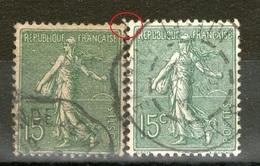 N° 130d°_Papier GC_130° Type 6_Gare_1 Petit_1 Grand - 1903-60 Semeuse Lignée