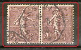 """Paire N° 131°_Ambulant """"Cours à Saint Victor 1908_Foncé - 1903-60 Sower - Ligned"""