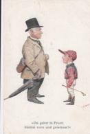 AK - C.F. Bauer Karte - Du Gehst In Front Bleibst Vorne Und Gewinnst - 1910 - Reitsport