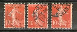 N° 135°_Types 1-2-et3_voir Scans - 1906-38 Säerin, Untergrund Glatt