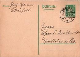 ! Antwortkarte 1927 Aus Bitterfeld Professor Wasner ?, Autograph - Deutschland