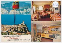 """CPM  GF-35893 - Italie - Malcesine - Multivues Albergo """" Il Querceto"""" - Altre Città"""