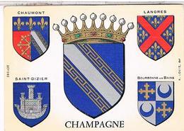 BLASON ECUSSON ARMOIRIES ARMES    REGION CHAMPAGNE - Champagne-Ardenne