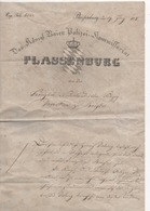 Rapport De Police De PLASSENBURG DE 1828 - Documents Historiques