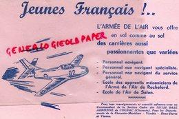 16- COGNAC- RARE BUVARD ARMEE DE L' AIR- BASE AERIENNE CHARENTE-CHARENTE MARITIME-VENDEE-AVIATION AVION - Buvards, Protège-cahiers Illustrés