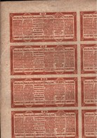 ! China, Chine,  Government 5% Reorganisation Goldloan Of 1913, Only The Coupons ! - Asie