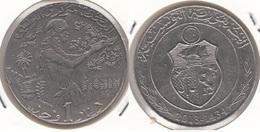 TUNISIA 1 Dinar 2013 (F.A.O.) KM#347 - Used - Tunisia