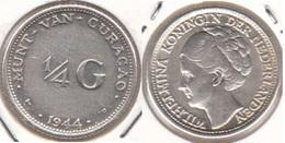 Curacao ¼ Gulden 1944 SILVER KM#44 - Used - Curaçao