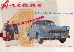 AUTOMOBILE- BUVARD ARIANE 4- LA GRANDE VOITURE FRANCAISE- AUTO - Automotive