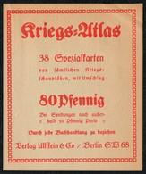 B6180 - Etikett - Werbung Reklame - Kriegs Atlas - Verlag Ullstein Berlin - Aufkleber