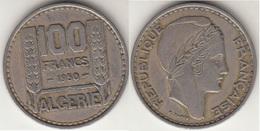 Algeria 100 Francs 1950 KM#93 - Used - Algeria