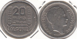 Algeria 20 Francs 1949 KM#91 - Used - Algeria