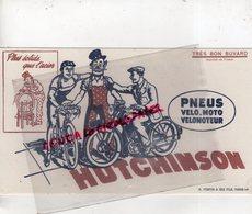 BUVARD HUTCHINSON- PNEUS PNEU VELO- MOTO- VELOMOTEUR- PLUS SOLIDE QUE L' ACIER-IMPRIMERIE FORTIN & FILS PARIS - Transports