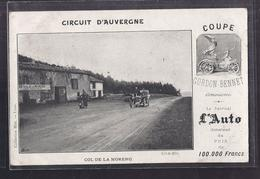 CPA 63 - COL DE LA MORENO - COUPE GORDON BENNET - CIRCUIT D'AUVERGNE Journal L'AUTO TB AUTOMOBILE - Altri