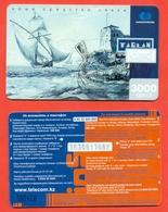 Kazakhstan. Sailboat. Plastic Pre-payment Card. Phonecards. - Boats