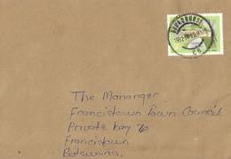 Botswana 1992 Broadhurst Boettger's Dainty Frog Cacosternum Boettgeri Domestic Cover - Botswana (1966-...)