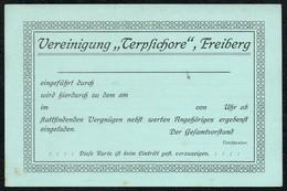 6568 - Freiberg - Eitrittskarte Vereinigung Terpsichore - Eintrittskarten