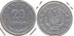 Albania 20 Qindarka 1969 25th Anniversary Of Liberation KM#46 - Used - Albania